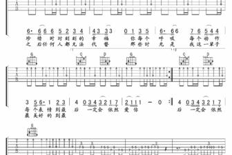 依然爱你吉他谱 王力宏依然爱你吉他谱 附视频示范