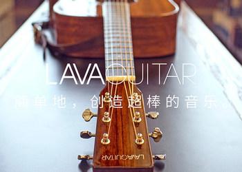 正品LAVAGUITAR拿火面单板木吉他 民谣电箱吉他41寸 初学指弹唱