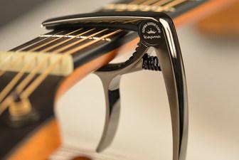 新款 kepma卡马原装枪黑色高级锌合金民谣吉他变调夹